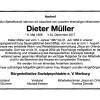 Wir nehmen Abschied von unserem ehemaligen Mitarbeiter Dieter Müller