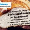 """Podiumsdiskussion zur Landtagswahl<br/>""""Es ist genug für alle da!"""""""