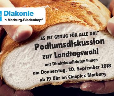 """Podiumsdiskussion zur Landtagswahl""""Es ist genug für alle da!"""""""