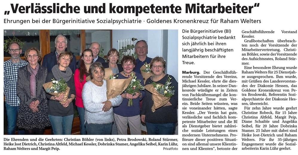 Oberhessische Presse vom 09.01.2018