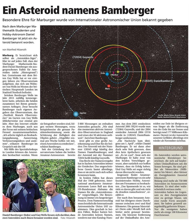 Ein Asteroid namens Bamberger