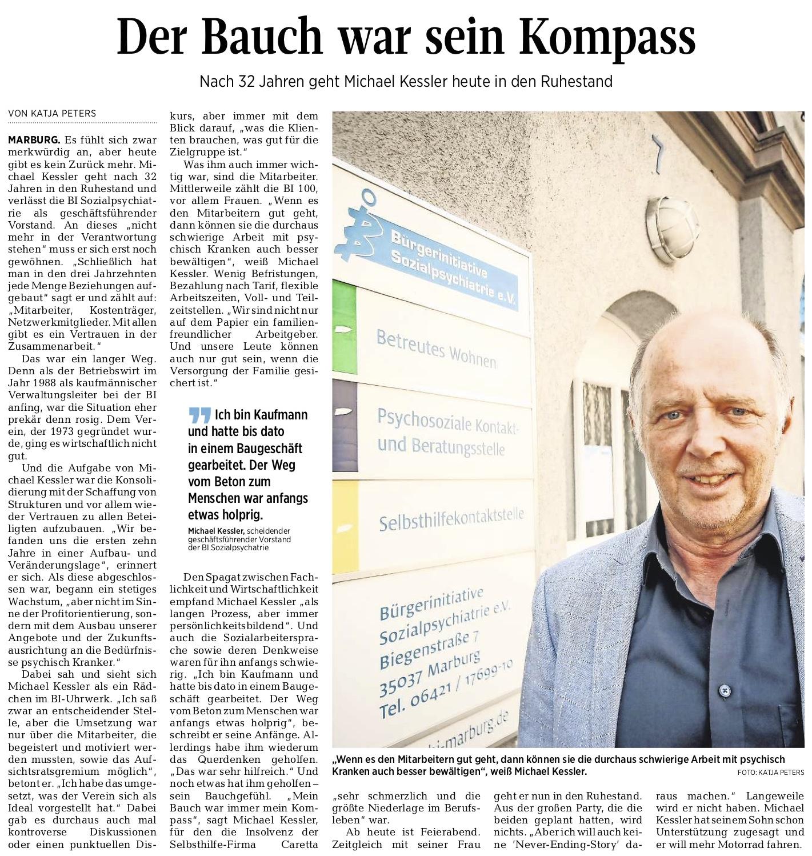 Artikel der Oberhessischen Presse vom 26.06.2020